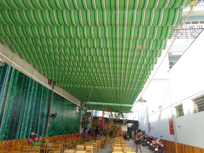 Thi Công Lắp Đặt Mái Hiên Mái Xếp Mái Che Mái Bạt Kéo Lượn Sóng tại Vũng Tàu
