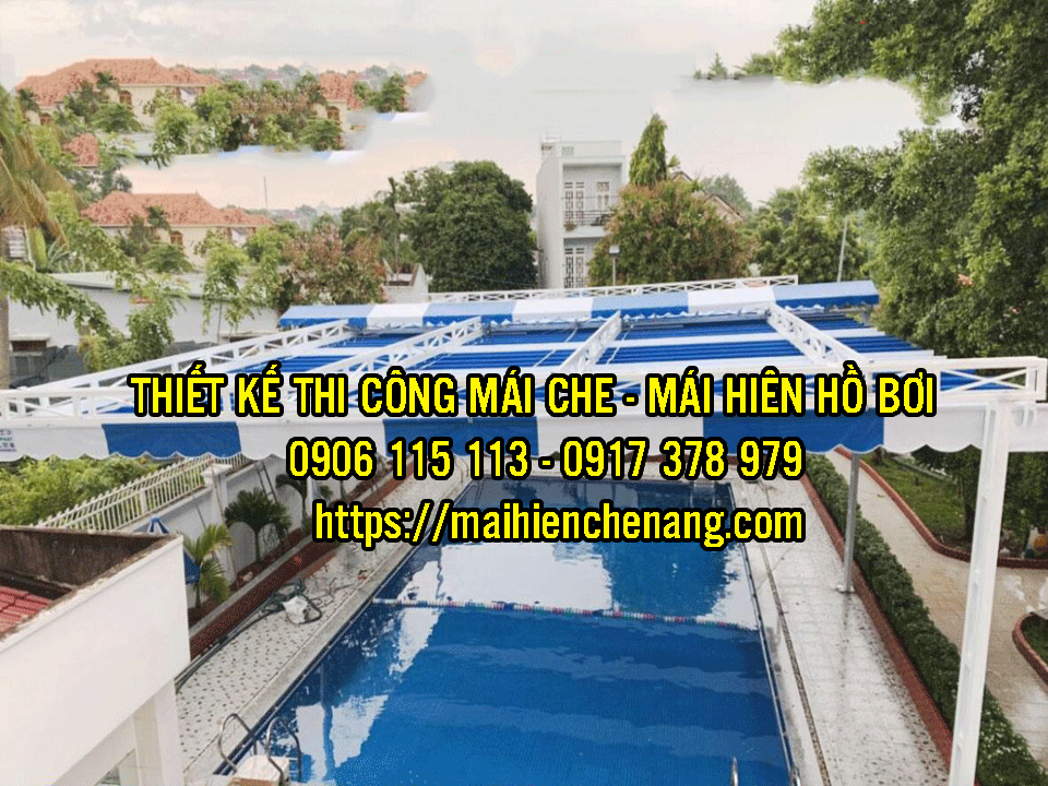 Mái Hiên Xếp Kéo Mái Che Di Động Dùng Cho Nhà Hàng Quán Cà Phê, Hồ Bơi Giá Rẻ tại Quận 9 TPHCM