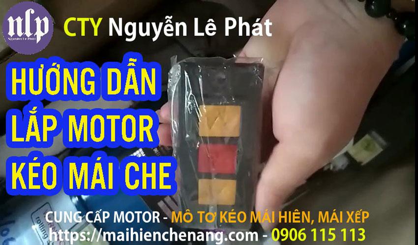 Motor Bạt Xếp | Bán Mô Tơ Mái Bạt Xếp Giá Rẻ , Hướng Dẫn Lắp Motor Kéo Mái Che